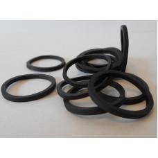 O-RINGS, FLAT (BLACK)