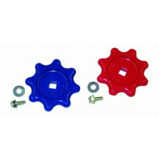 Guage Handles,Blue & Red