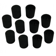 Cap,Long,Black,10mm,10pk