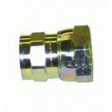 QC, Female w/valve, #8
